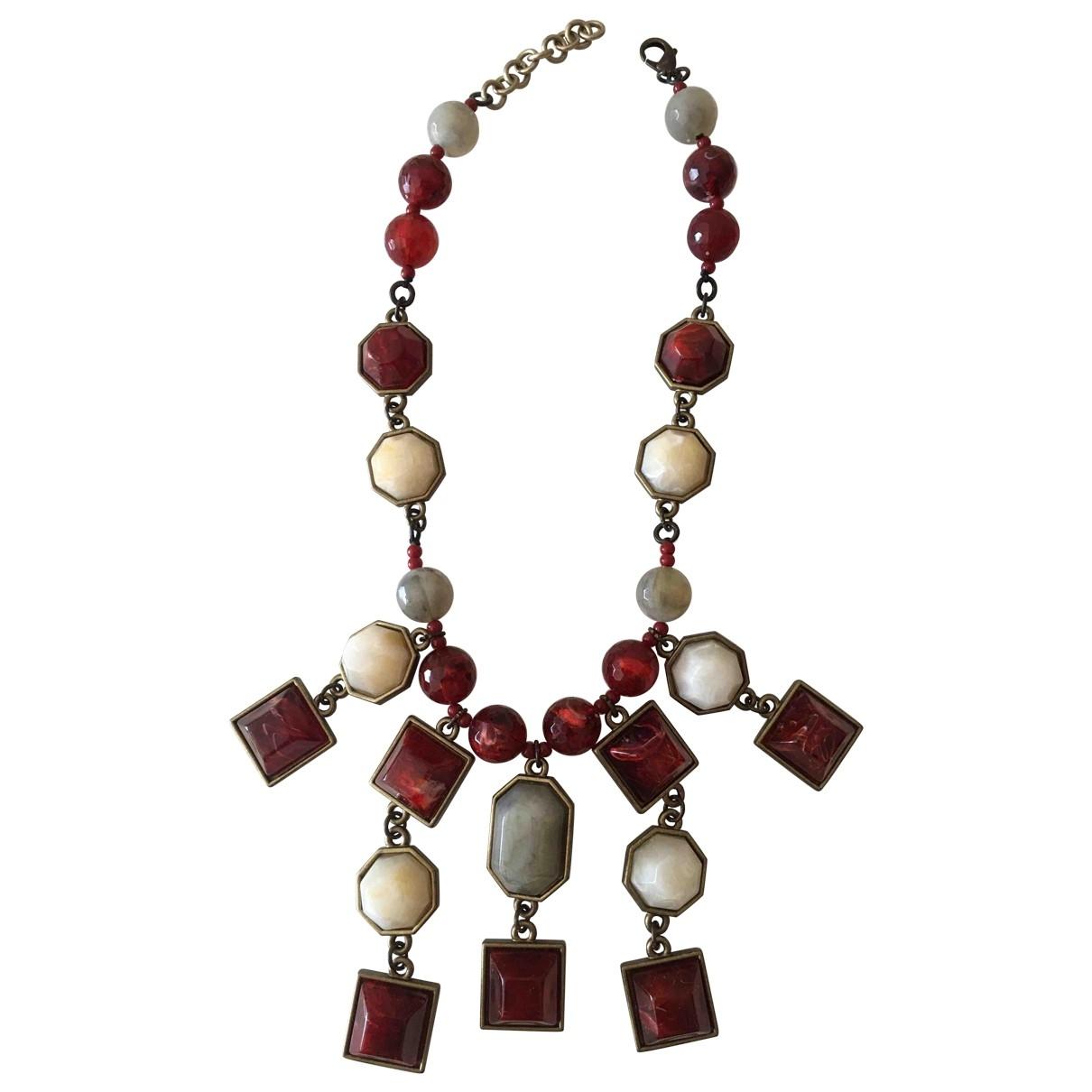 Collar Motifs Ethniques de Cristal Non Signe / Unsigned