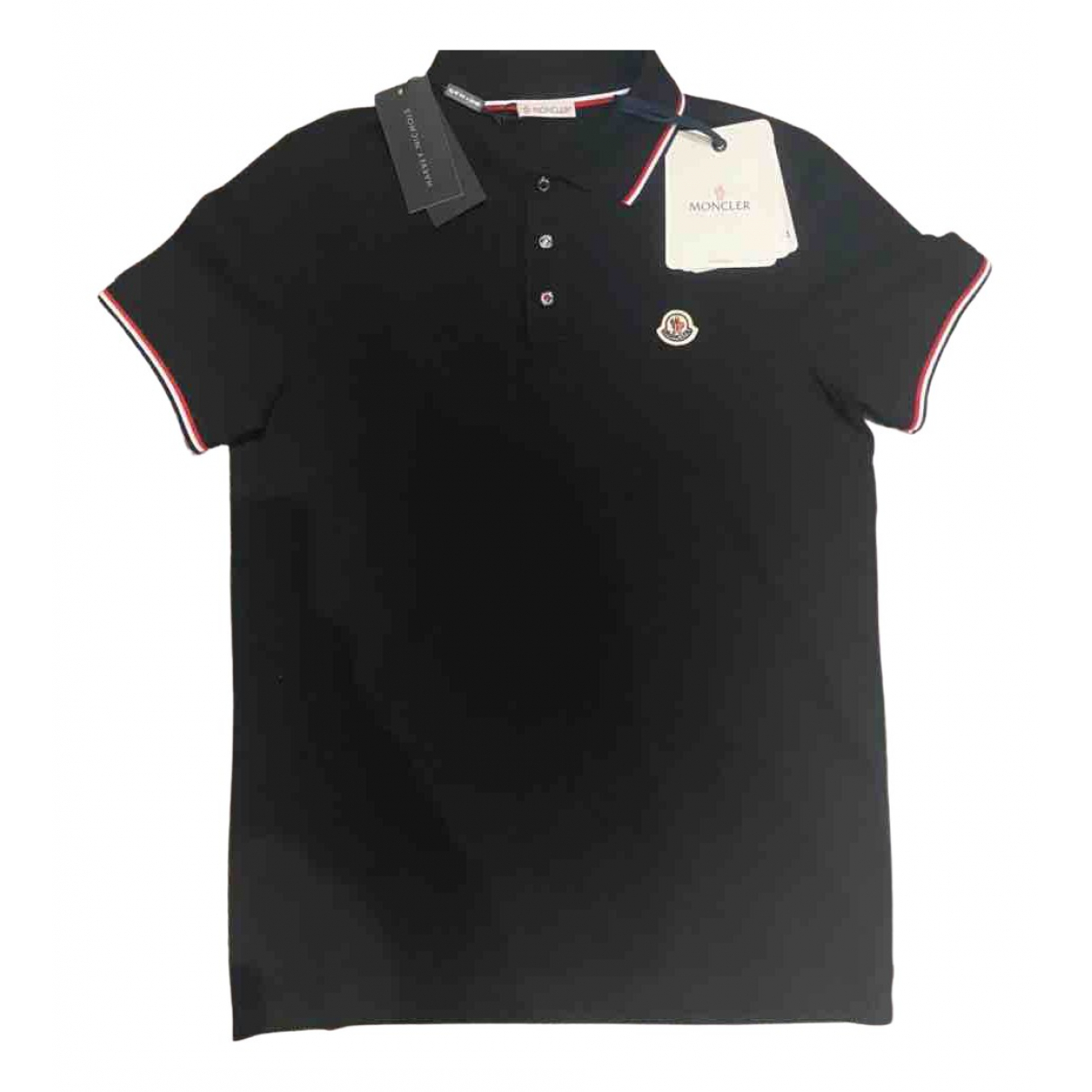 Moncler \N Black Cotton Polo shirts for Men S International