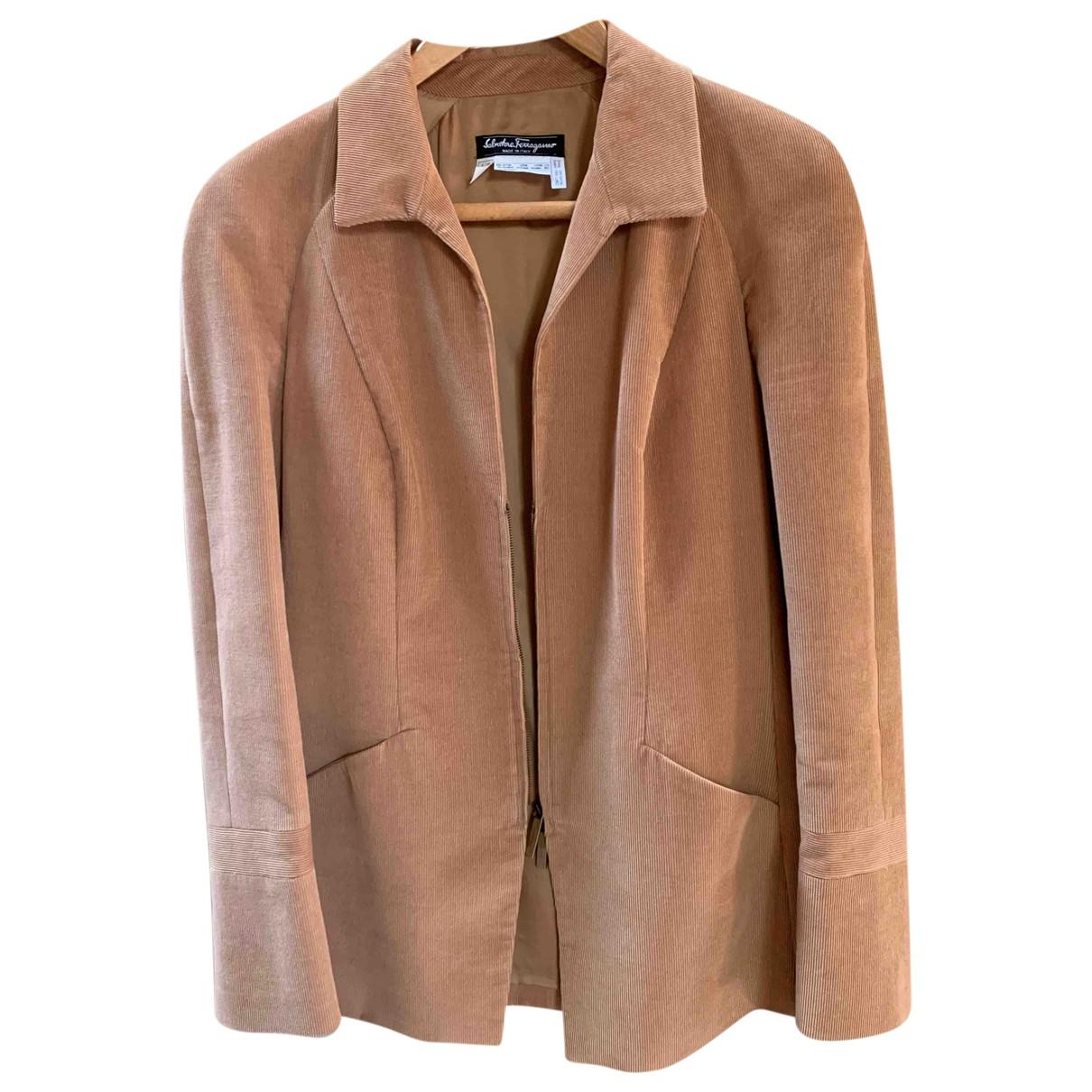 Salvatore Ferragamo N Brown Cotton jacket for Women 42 FR