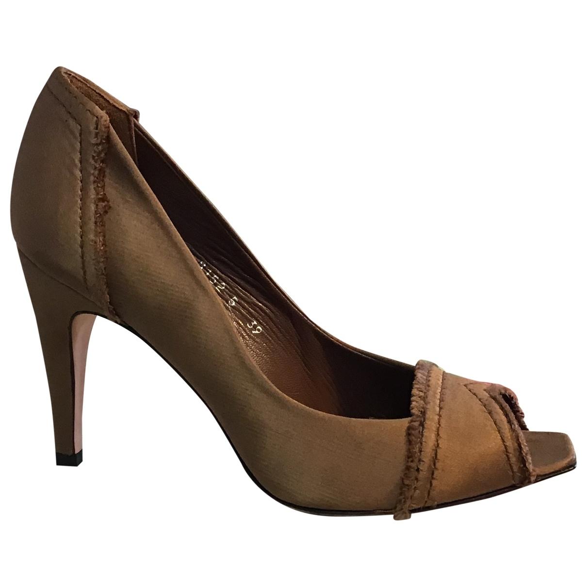 Pedro Garcia \N Khaki Cloth Heels for Women 39 EU