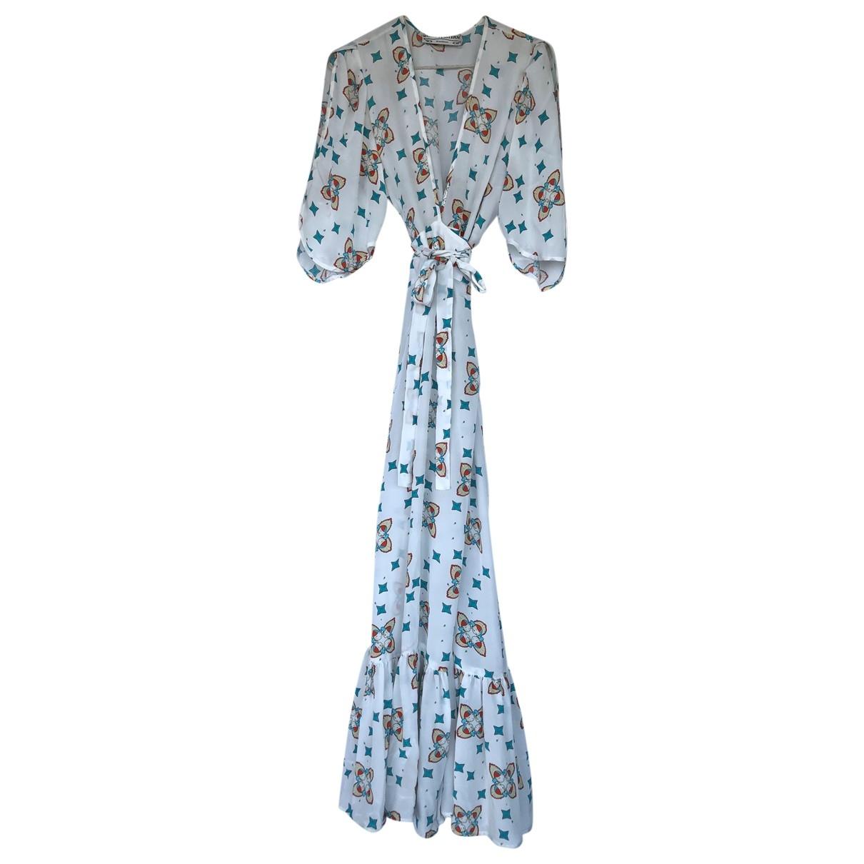 Jessie Western - Robe   pour femme en soie - blanc