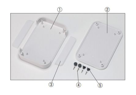 Takachi Electric Industrial PF, Grey ABS Enclosure, IP40, 100 x 100 x 22.5mm