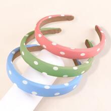 3pcs Polka Dot Pattern Hair Hoop