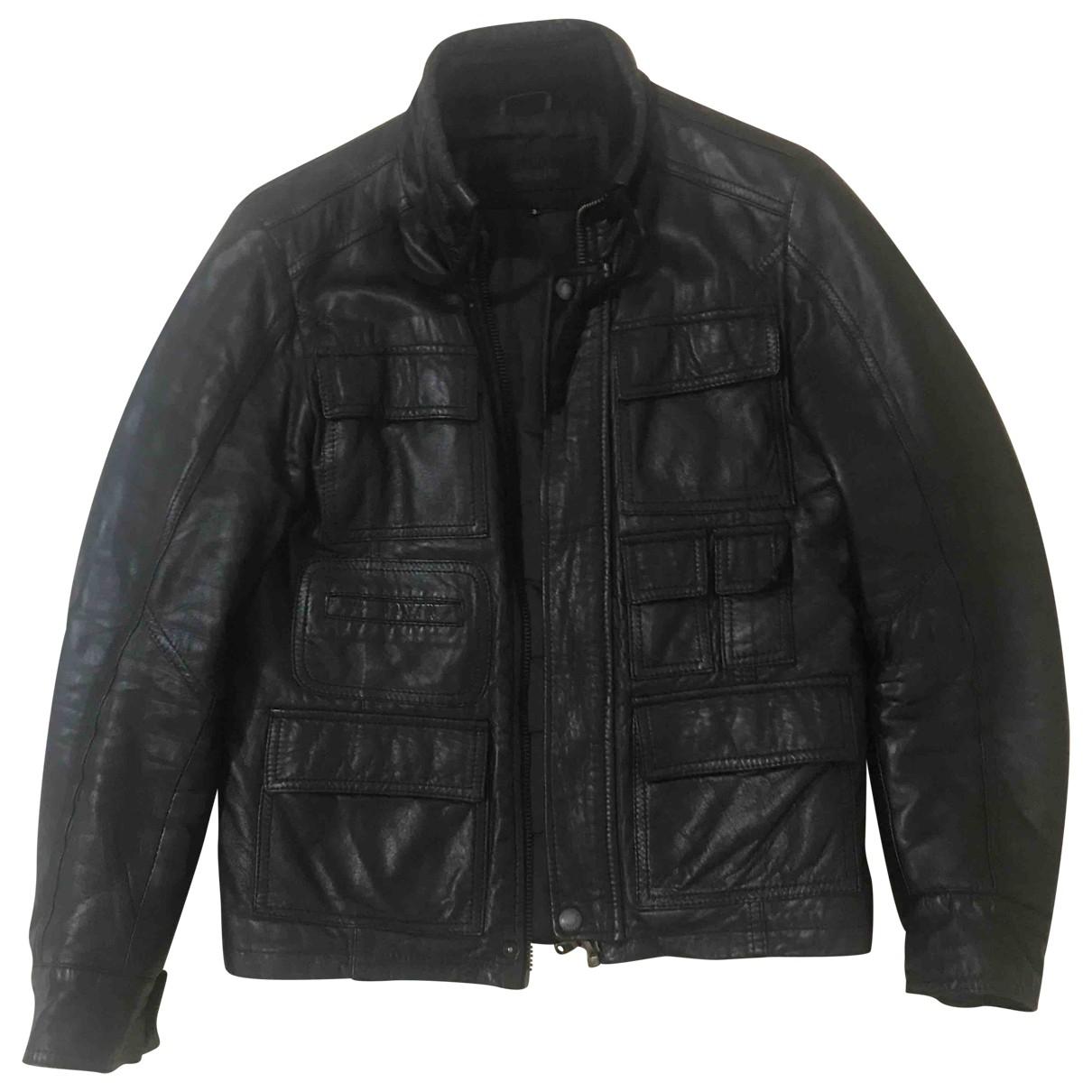 Imperial \N Jacke in  Schwarz Leder