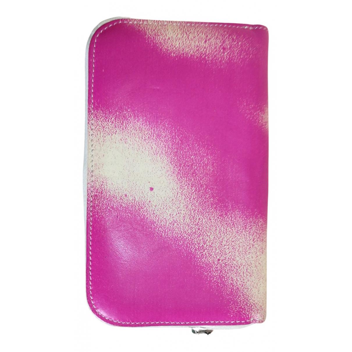 Mm6 - Portefeuille   pour femme en cuir - rose