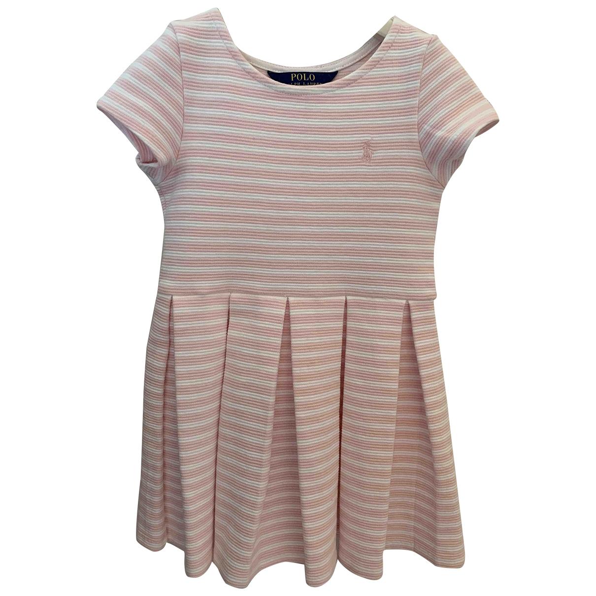 Polo Ralph Lauren \N Kleid in  Rosa Baumwolle - Elasthan