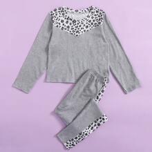 Homewear de Niñas Leopardo Casual