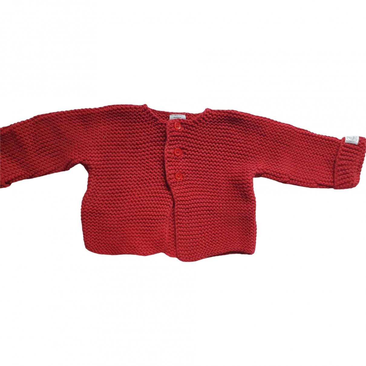 Petit Bateau - Pull   pour enfant en coton - rouge