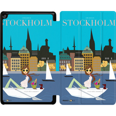 Amazon Fire HD 8 (2018) Tablet Smart Case - STOCKHOLM TRAVEL POSTER von IRMA