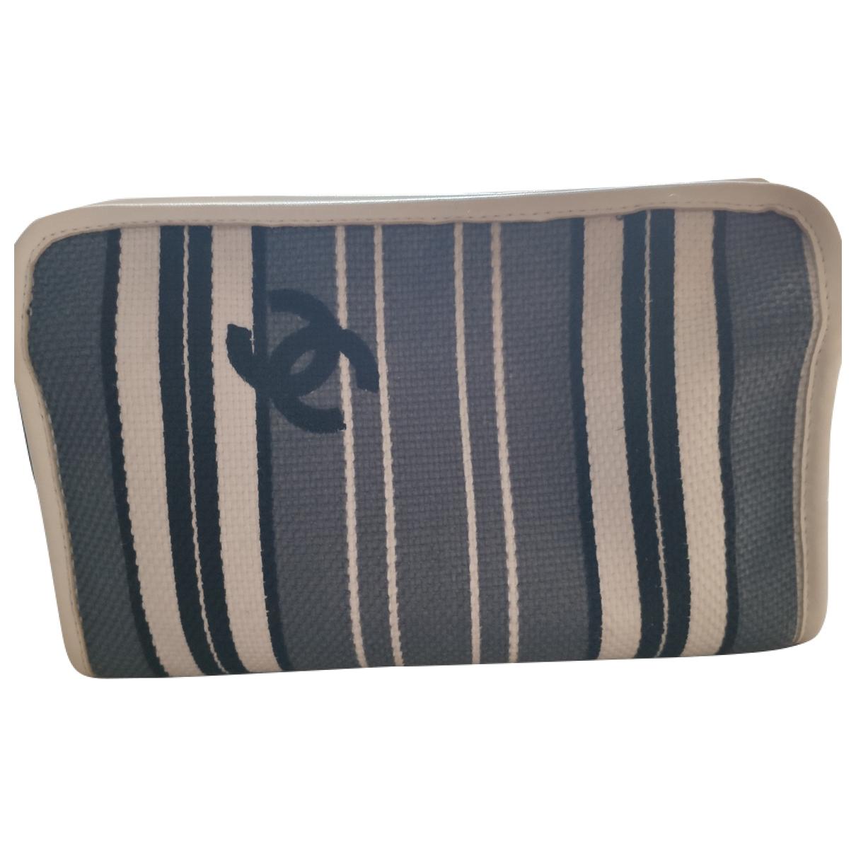 Chanel - Sac de voyage   pour femme en laine - gris