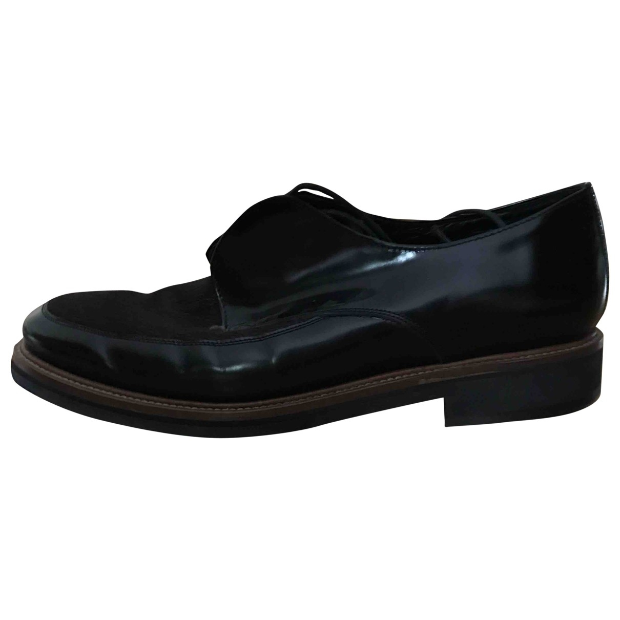 Valentine Gauthier \N Black Patent leather Lace ups for Women 38.5 EU