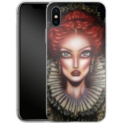 Apple iPhone X Silikon Handyhuelle - Queen Elizabeth I von Tiago Azevedo