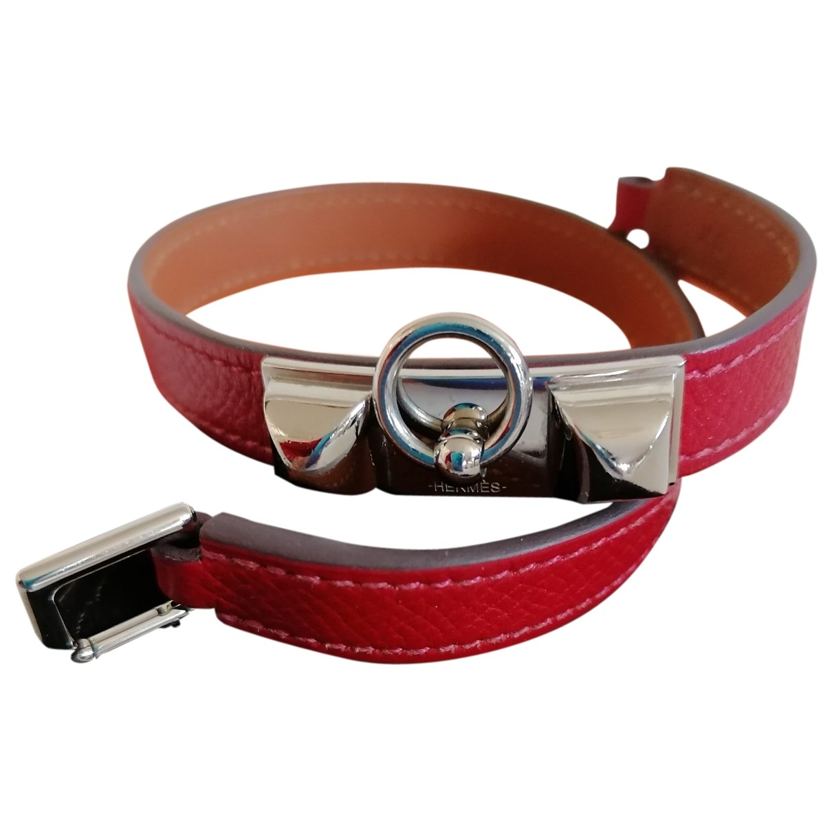 Hermès Kelly Double Tour Red Leather bracelet for Women \N