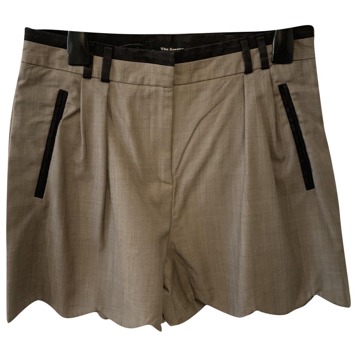 The Kooples \N Beige Cotton Shorts for Women 38 FR