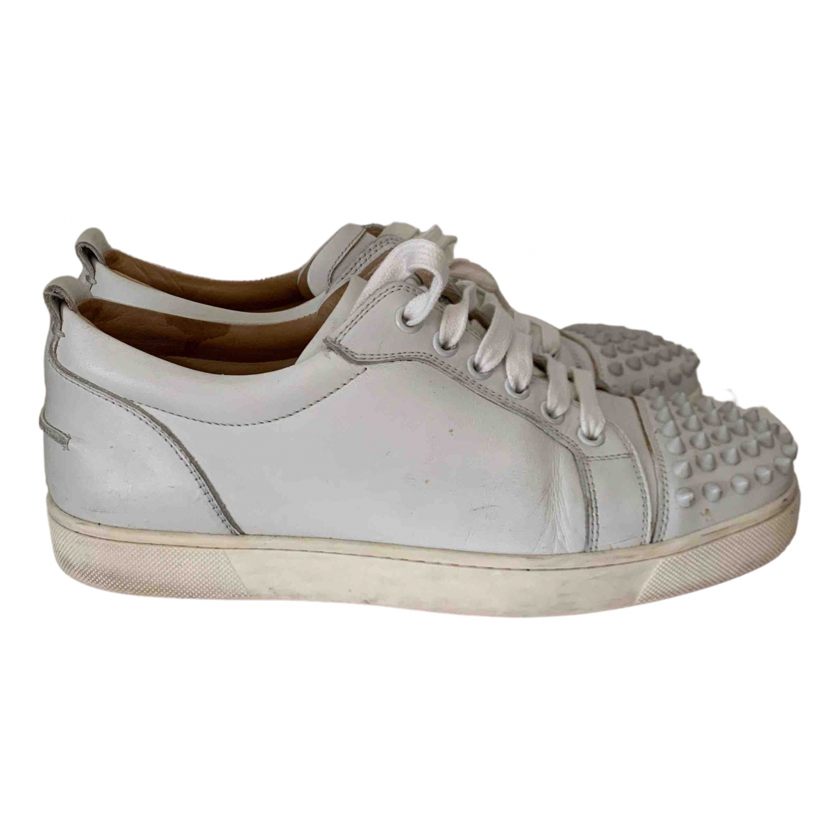 Christian Louboutin - Baskets Gondolita pour femme en cuir - blanc