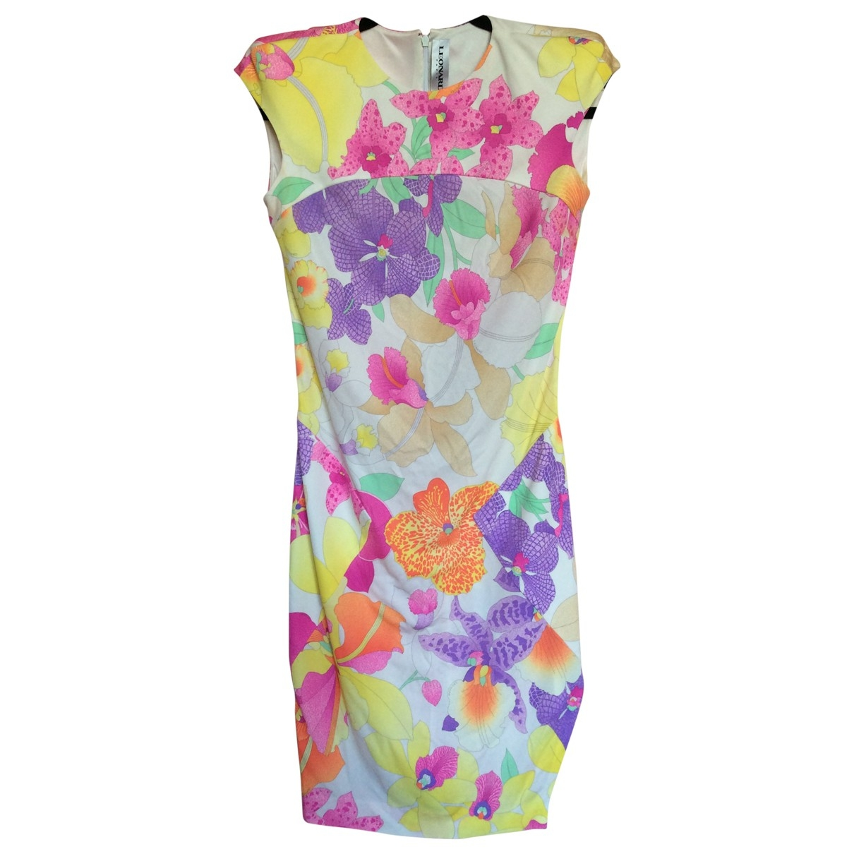 Leonard - Robe   pour femme en soie - multicolore