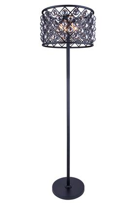 1206FL20MB-SS/RC 1206 Madison Collection Floor Lamp D: 20 H: 72 Lt: 4 Mocha Brown Finish (Royal Cut Silver Shade