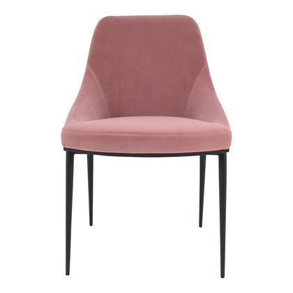 Sedona Collection EJ-1034-33 Dining Chair with Steel Legs in Pink