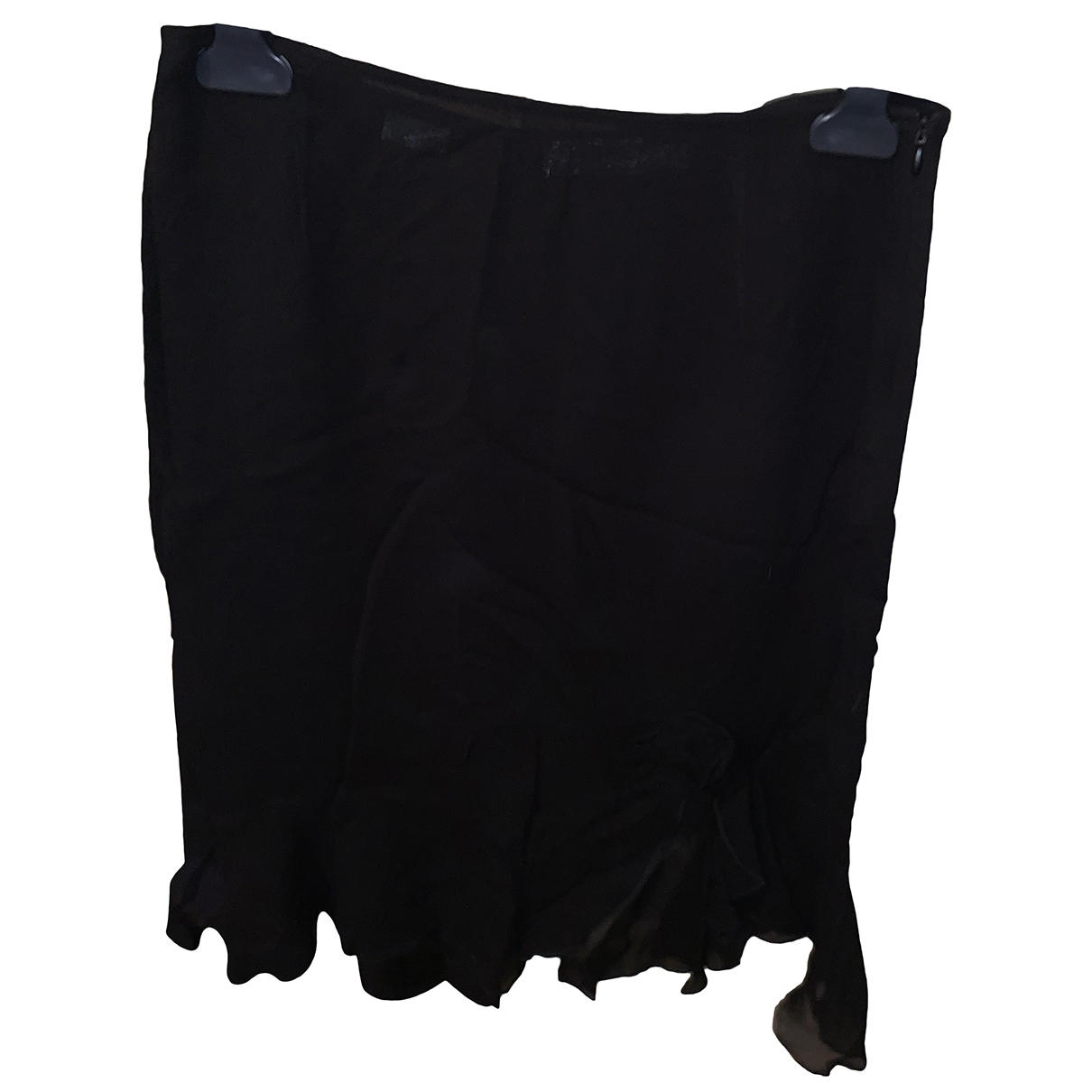 Moschino Cheap And Chic \N Black Silk skirt for Women 44 IT