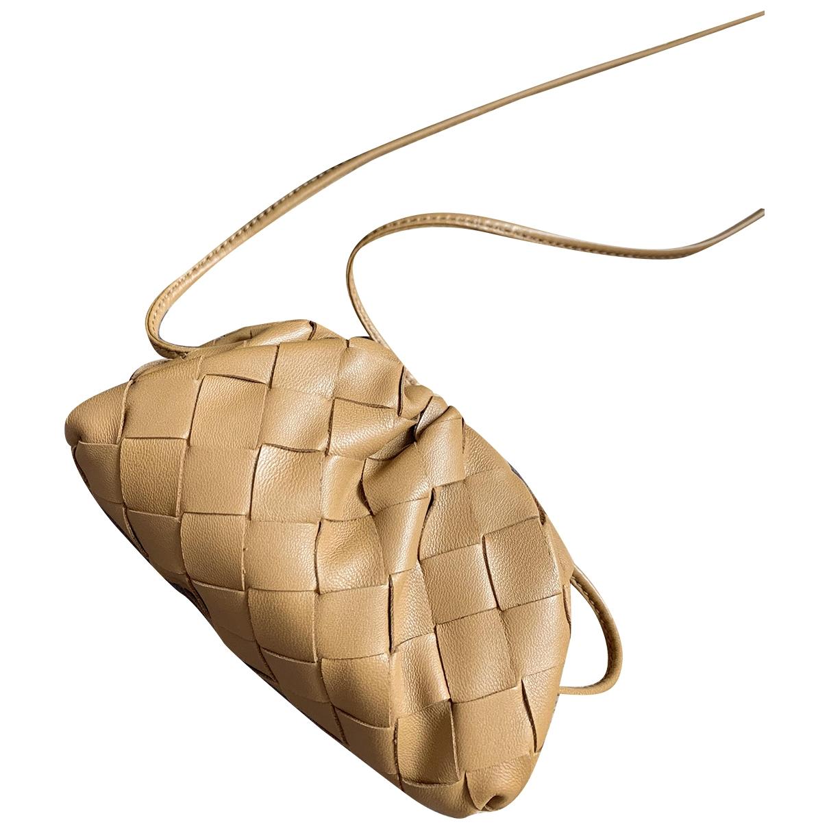 Bottega Veneta Pouch Camel Leather Clutch bag for Women N