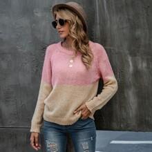 Two Tone Raglan Sleeve Sweater