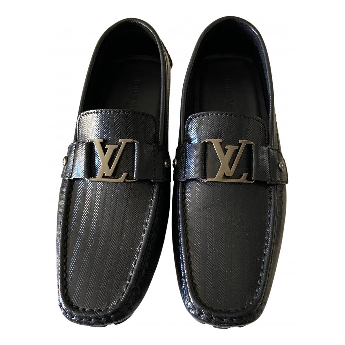 Louis Vuitton Monte Carlo Mokassins in  Marine Leder