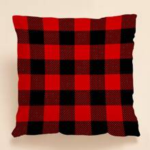 Christmas Plaid Pattern Cushion Cover Without Filler