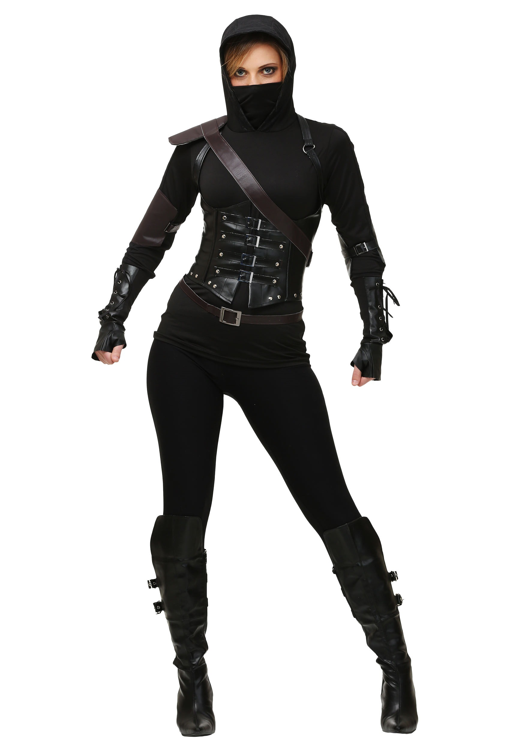 Womens Ninja Assassin Dark Costume