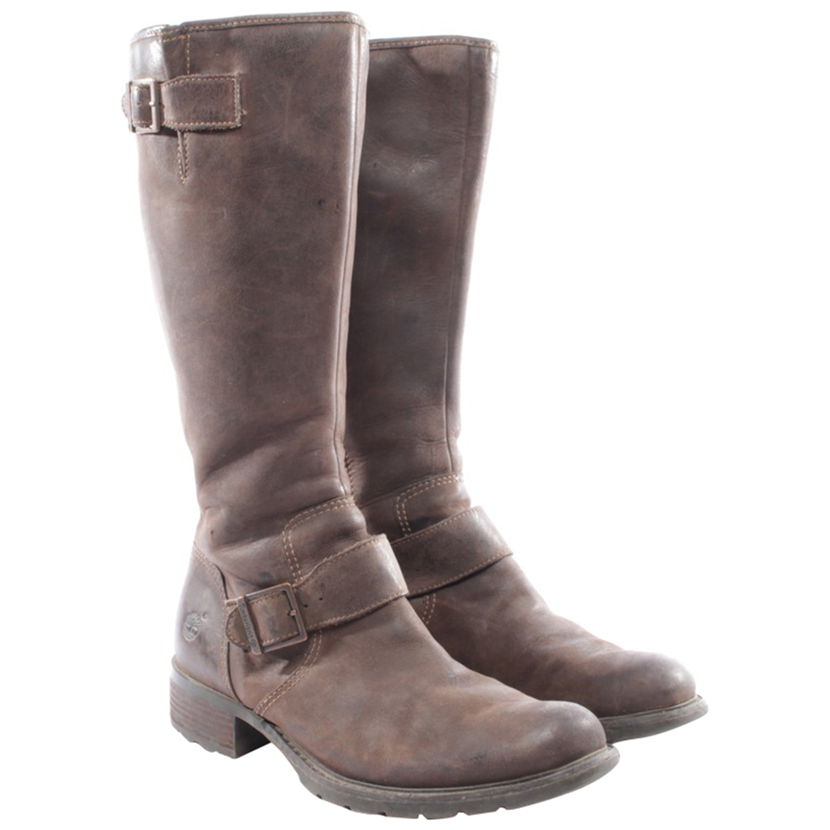 Timberland - Bottes   pour femme en cuir - marron