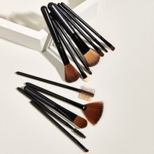 12pcs Makeup Brush Set & 1pc Storage Box