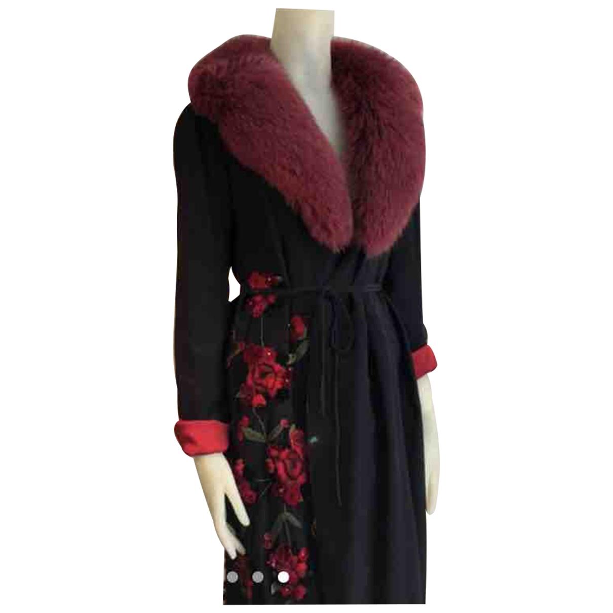 Dolce & Gabbana - Manteau   pour femme en fourrure - noir