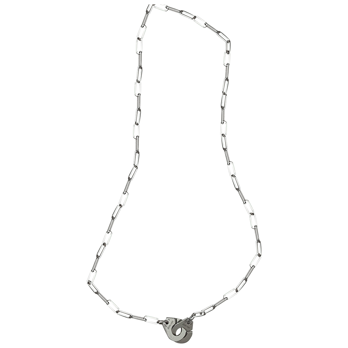 Dinh Van Menottes  Silver White gold Long necklace for Women \N