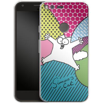 Google Pixel XL Silikon Handyhuelle - Simon´s Cat Colourful Pattern von Simons Cat