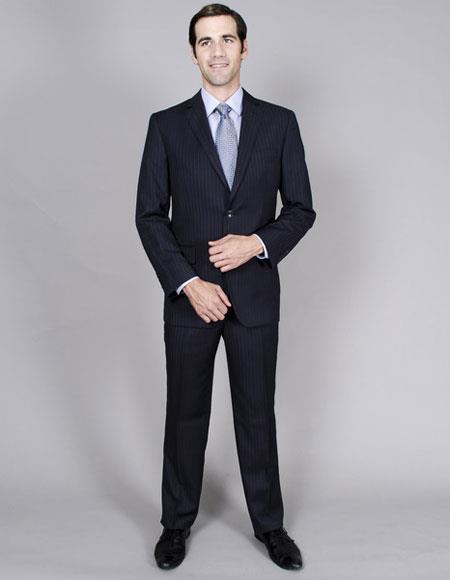 Mens Classic Single stripe Giorgio Fiorelli Brsuits Flat Front Pant