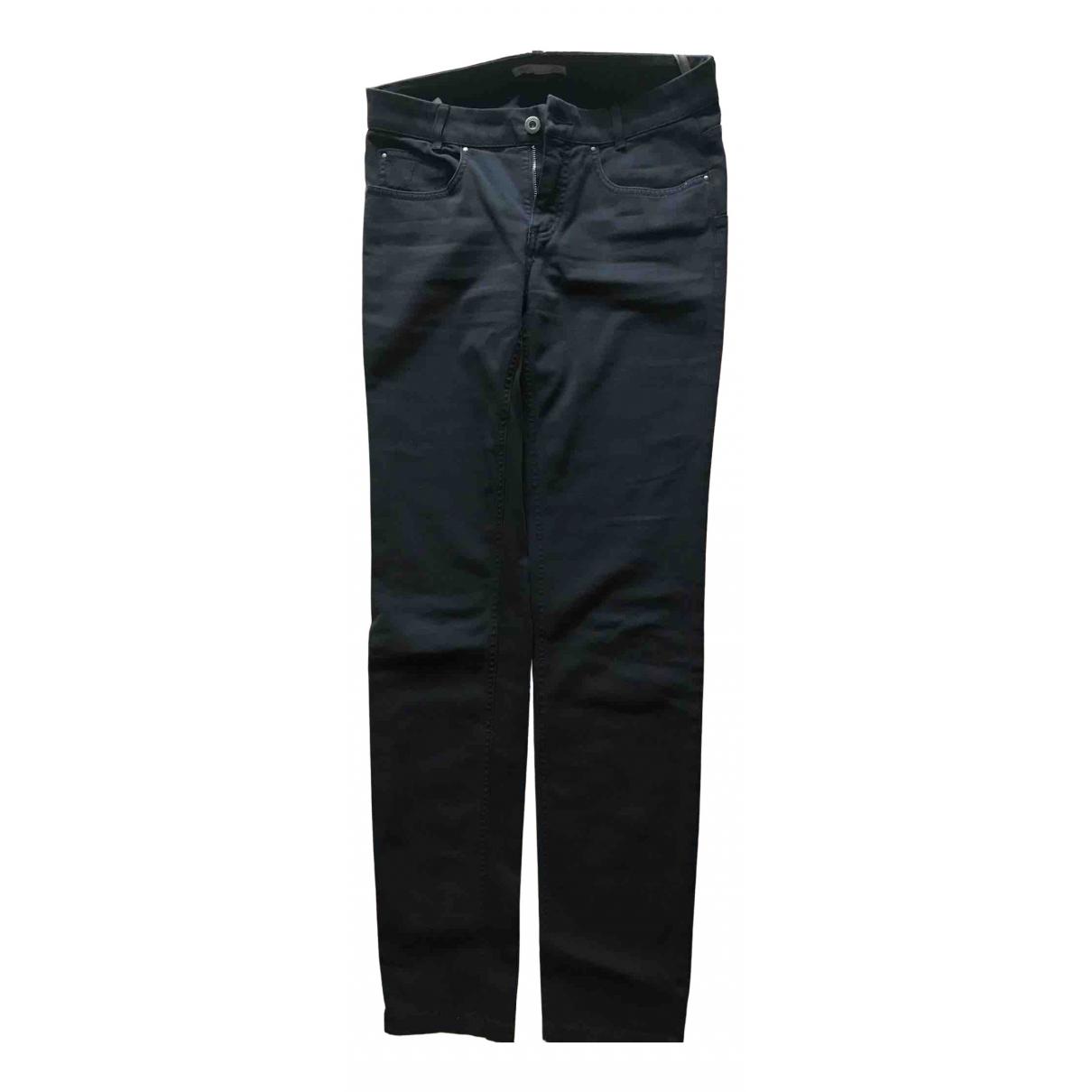 Fabiana Filippi N Navy Cotton Trousers for Women 40 IT