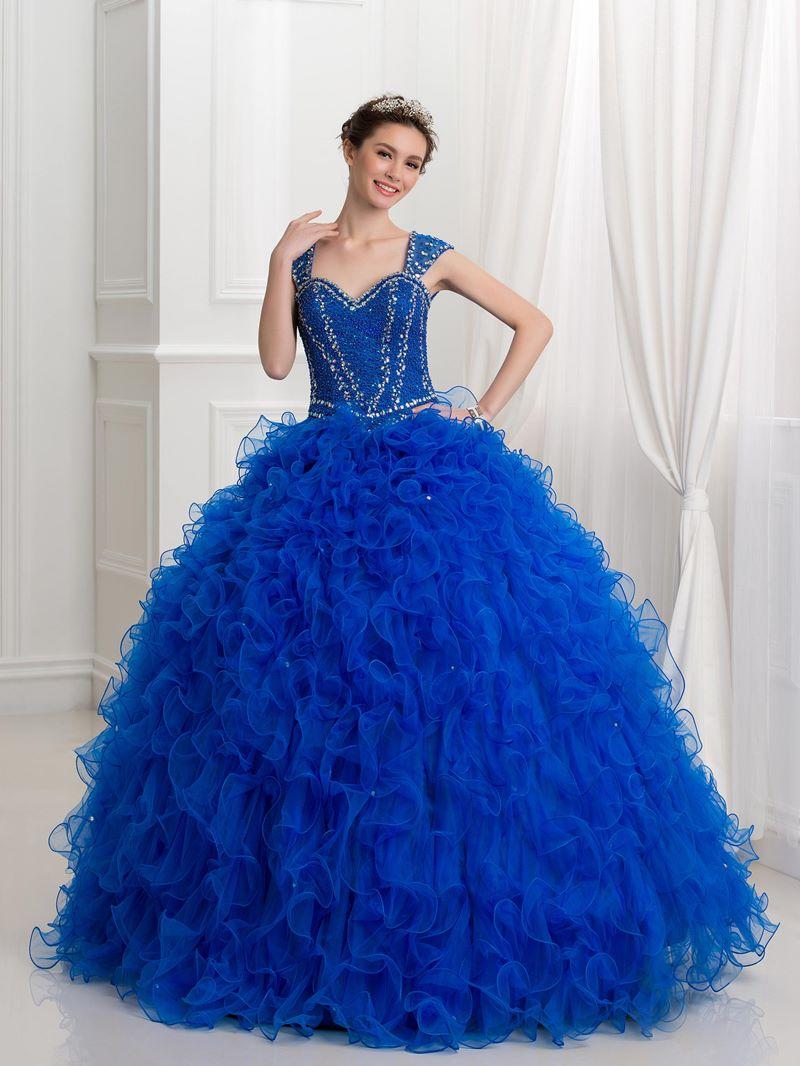 Ericdress Straps Beading Sequins Ball Gown Quinceanera Dress