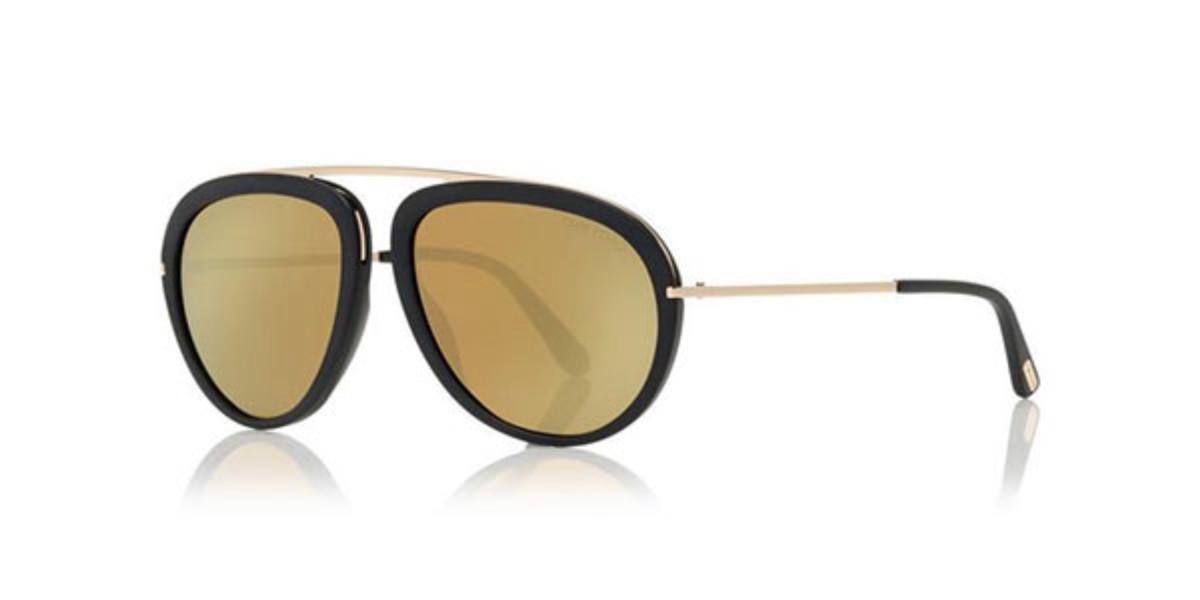 Tom Ford FT0452 STACY FLASH LENSES 02G Men's Sunglasses Gold Size 57
