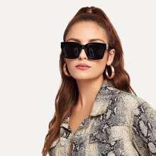 Acetat Flache Brillenglas Sonnenbrille