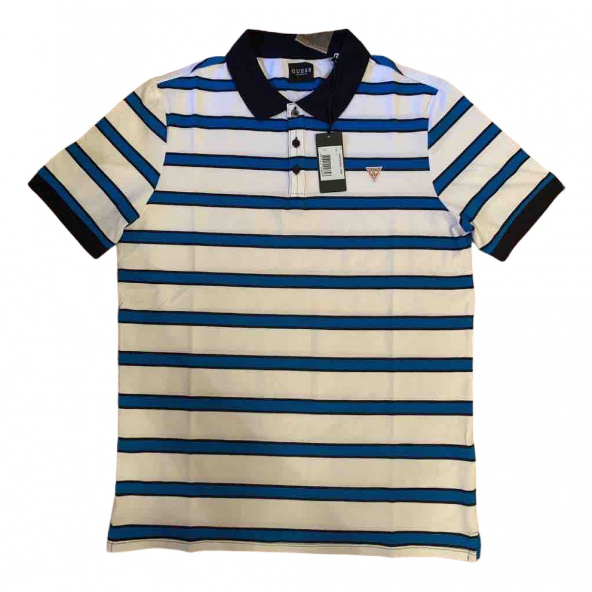 Guess N White Cotton Polo shirts for Men L International