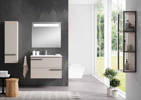 Scala Collection 3890 40 Bathroom Vanity with 2 Soft Close Drawers  Rectangular Shaped Ceramic Sink  Interior Organizer and Water-Resistant