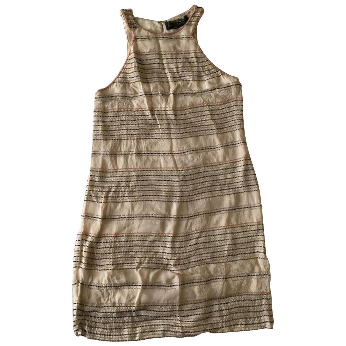 Patrizia Pepe \N Beige Glitter dress for Women 38 FR