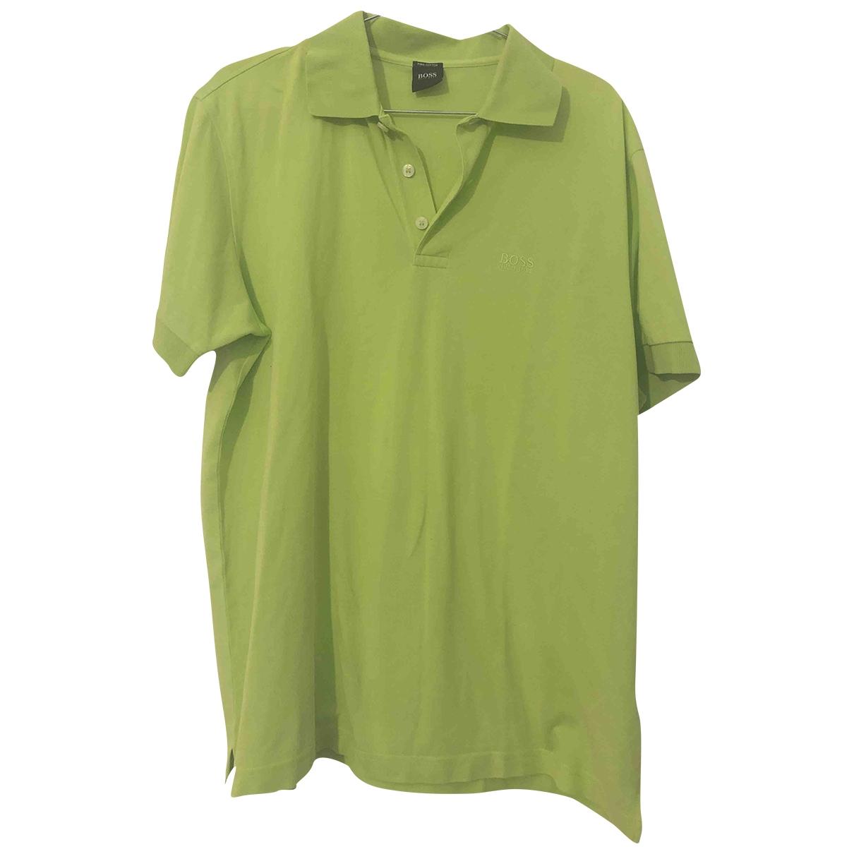 Boss - Polos   pour homme en coton - vert