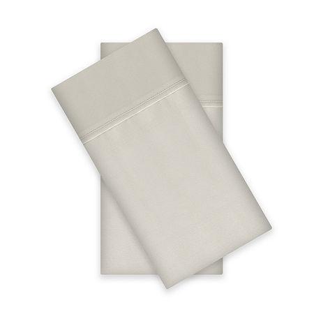 Liz Claiborne 400tc Liquid Cotton Sateen 2-Pack Pillowcases, One Size , White