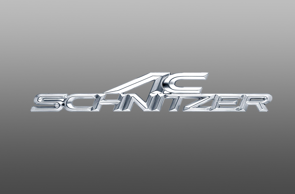 AC Schnitzer 511410250 Front Grill Nameplate - 160x32mm Silver/Matt Chromed
