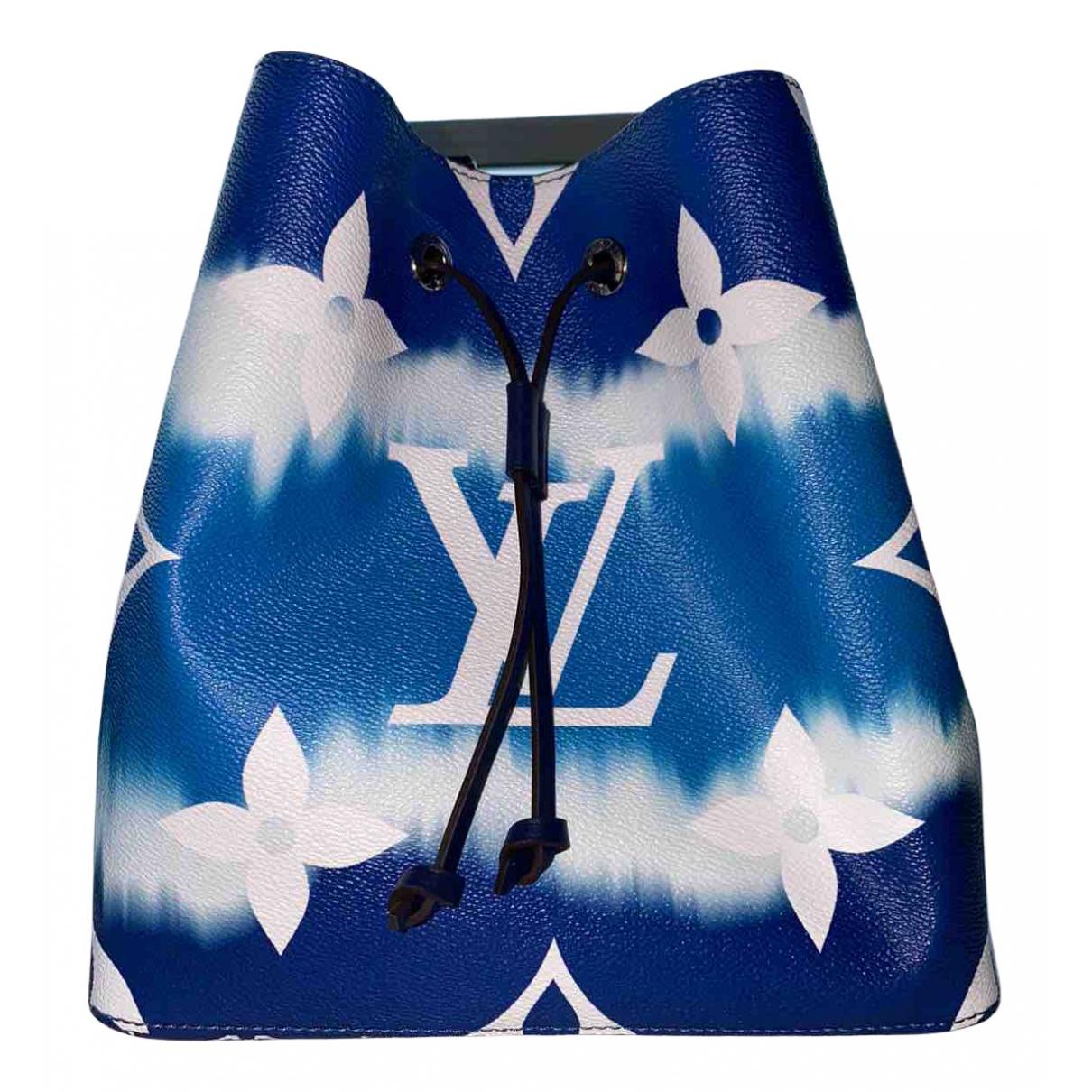Louis Vuitton - Sac a main NeoNoe pour femme en toile - bleu