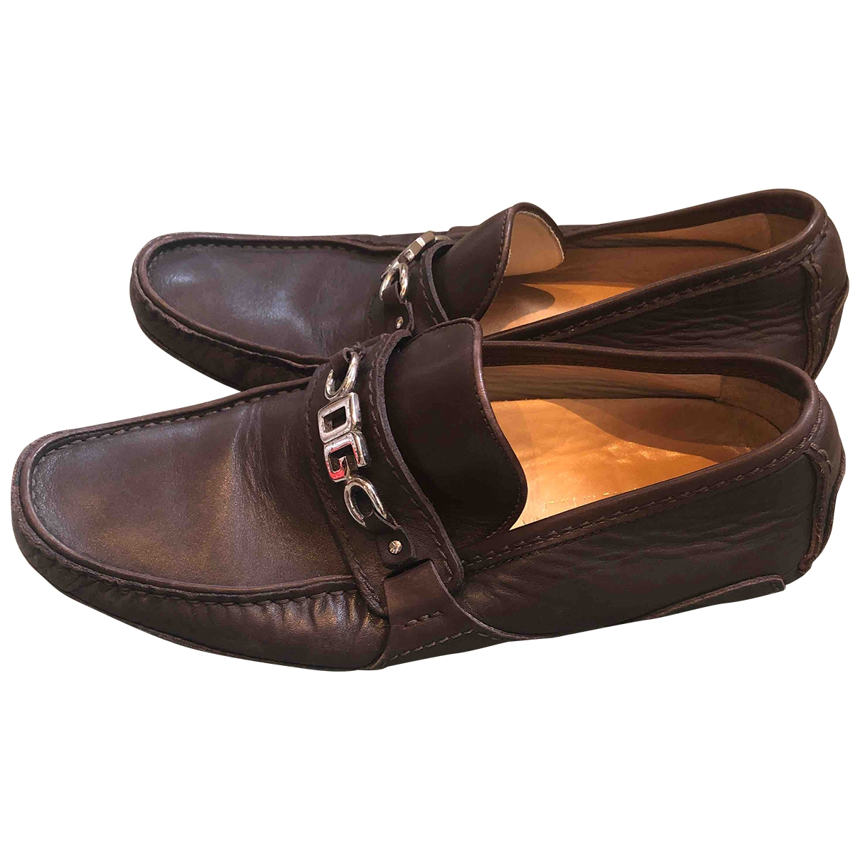Dolce & Gabbana \N Brown Leather Flats for Men 6 UK