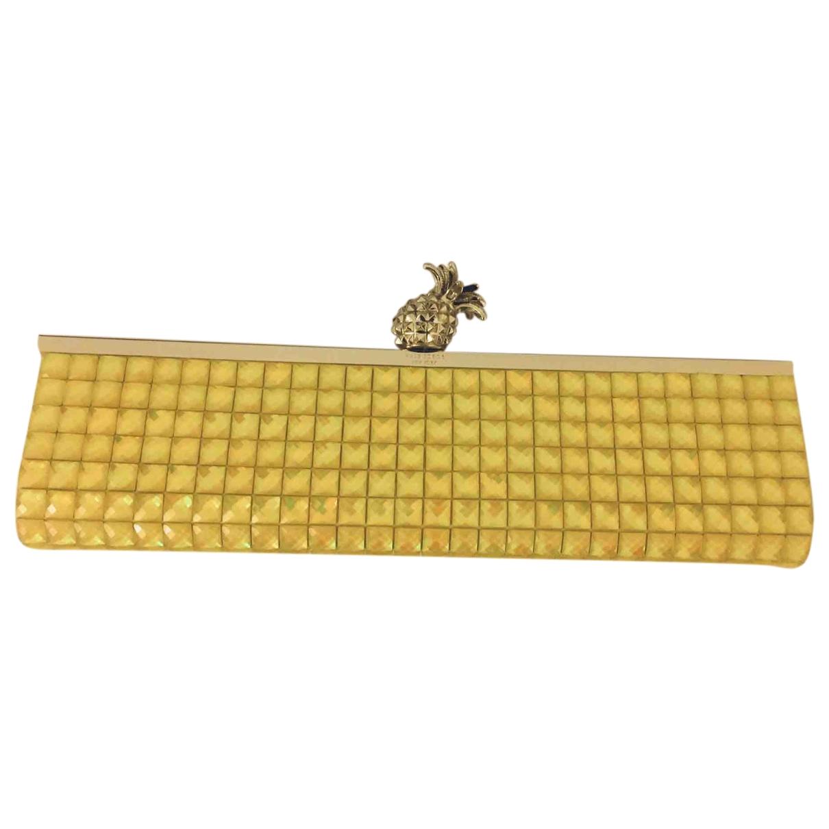 Bolsos clutch en Plastico Amarillo Kate Spade