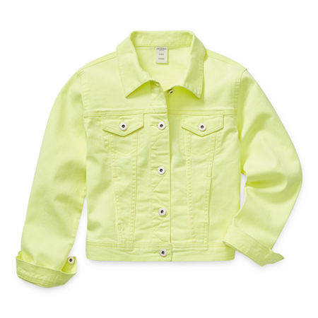 Arizona Little & Big Girls Denim Jacket, Xx-small (4-5) , Green