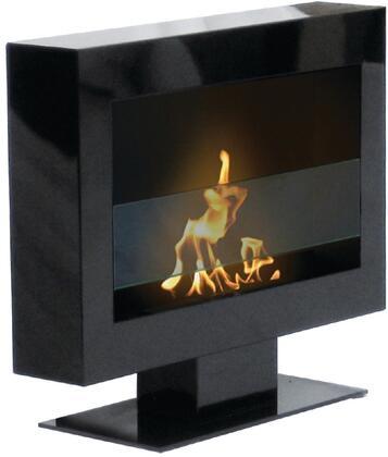 90201 Floor Standing Fireplace Tribeca II Model in Satin Black