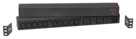 APC 2.5m 2, 10 Socket IEC C13, IEC C19 Extension Lead, 120 → 240 V, Black